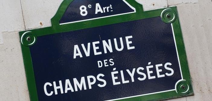avenida campos eliseos de paris
