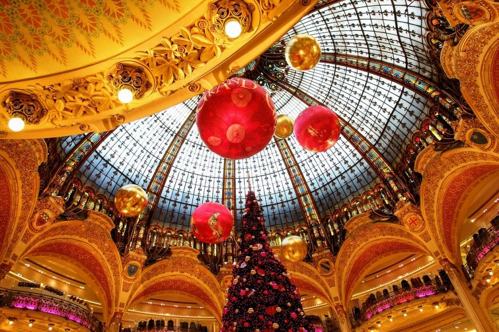 Galerias Lafayette Paris en Navidad