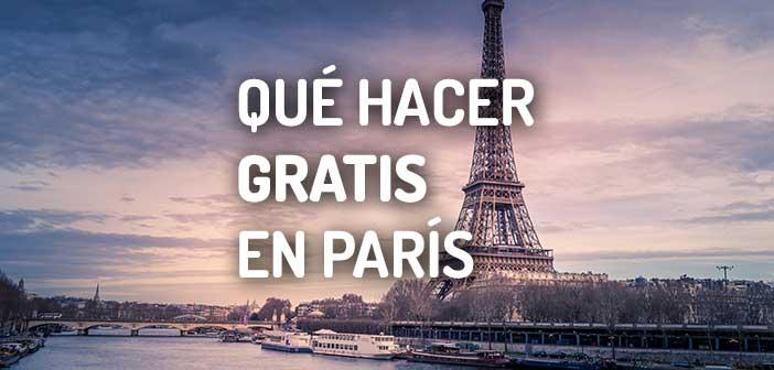 QUÉ HACER GRATIS EN PARÍS