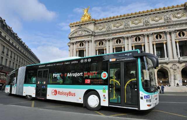 Autobús de Roissybus Aeropuerto Charles de Gaulle París
