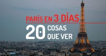 20 Cosas París en 3 días