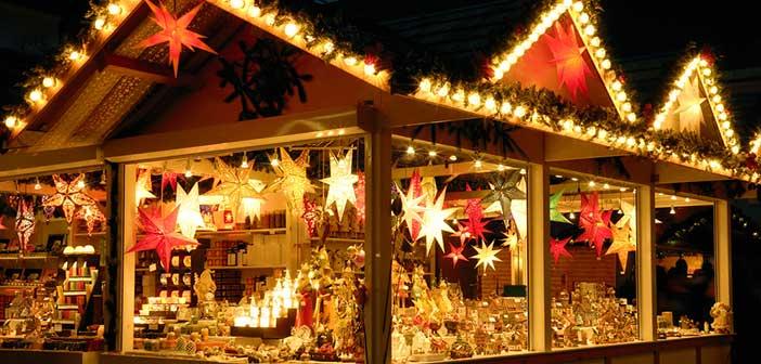 Mercadillo de navidad en París